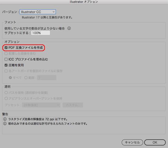 PDF互換ファイルを作成