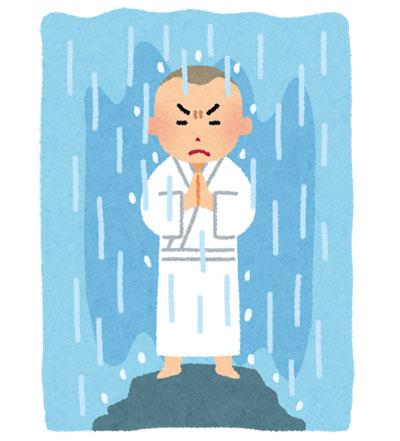 強すぎるシャワー
